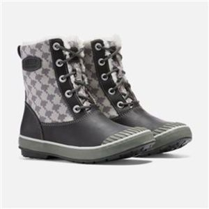 Keen Gray Houndstooth Elsa Winter Boots Size 8.5